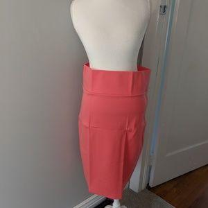 Agnes and Dora pencil skirt. Coral.